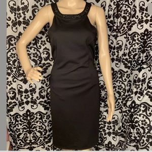 BLACK SWAN DRESS BEADED DETAIL SIZE LARGE